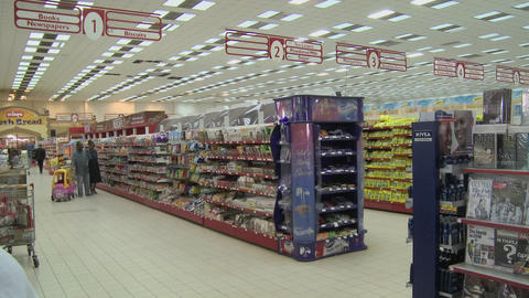 A modern supermarket in Nairobi Kenya Stock Video Footage