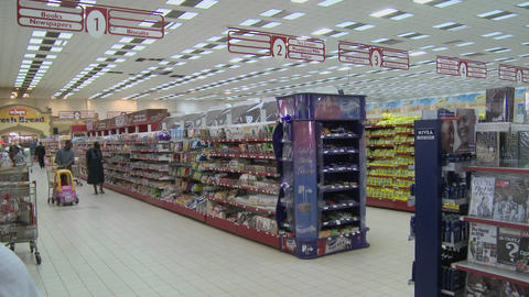 A modern supermarket in Nairobi Kenya Footage