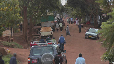A typical village scene in Africa Stock Video Footage
