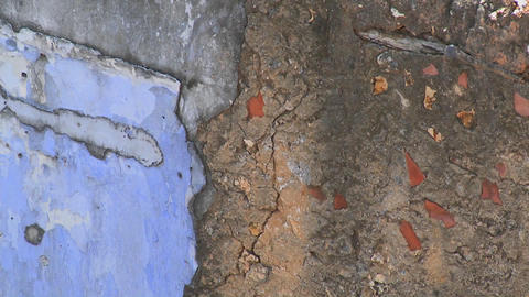 Detail of an old wall with many coats of varnish and... Stock Video Footage