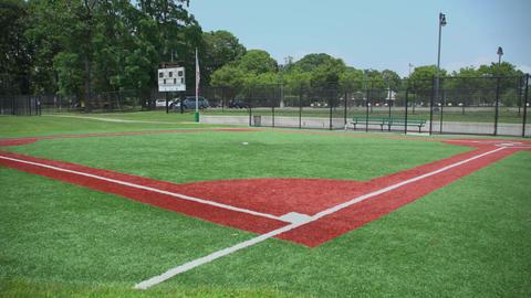 Empty public baseball diamond field Footage