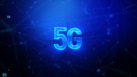 3D rendering 5G with lighting and glow effect for digital and technology concept, with connection GIF