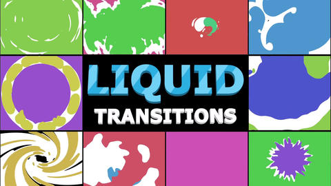 Liquid Transitions Collection Motion Graphics Template
