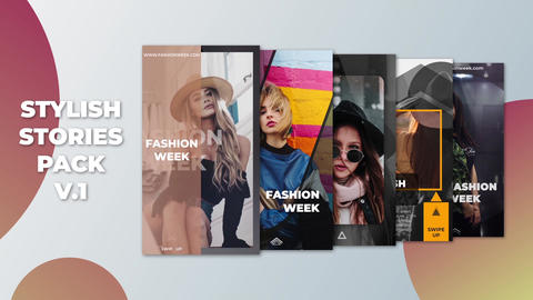 Stylish Stories Pack v 1 After Effects Template