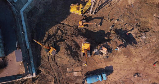 Top view setting up career preparation work equipment and people Live Action