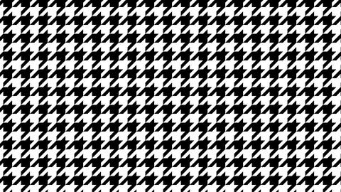 Houndstooth large pattern of black and white. Seamless loop Videos animados