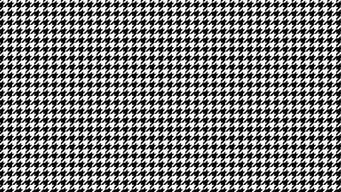 Houndstooth small pattern of black and white. Seamless loop Videos animados
