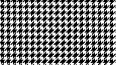 Gingham check pattern of black and white. Seamless loop Videos animados