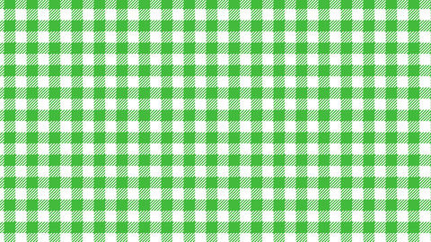 Gingham check pattern of green. Seamless loop Animation
