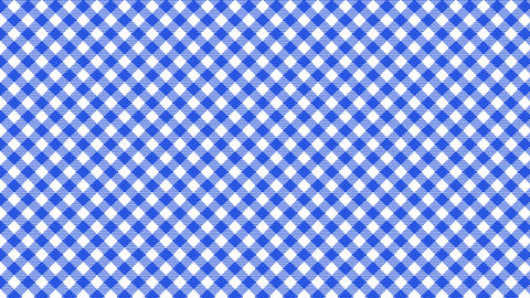 Gingham check diagonal pattern of blue. Seamless loop Animation
