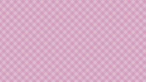 Gingham check diagonal pattern of pink. Seamless loop Animation