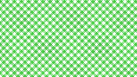 Gingham check diagonal pattern of green. Seamless loop CG動画