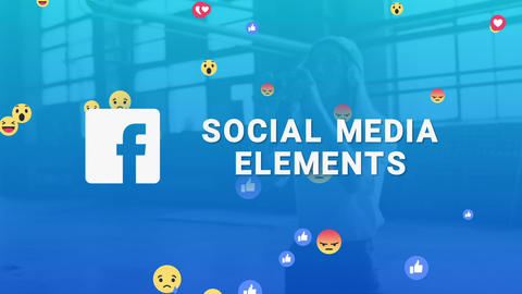 Facebook Social Media Elements Premiere Pro Template