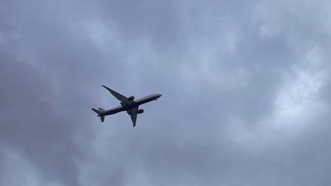 Plane jet aircraft flies through the sky passenger plane jet aircraft 4K Live Action