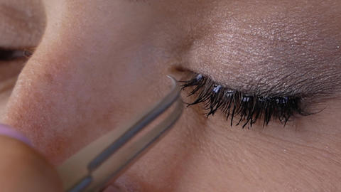 Eyelash Extension Procedure Live Action