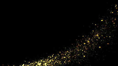 Glittering Magic trail of light on black background Live Action