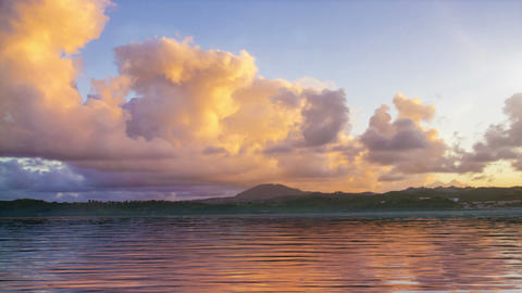 Sunset Tropical Landscape Animation
