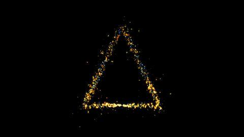Triangle Sparkling Golden glitter Spiral lens effect Live Action