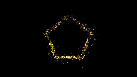Hexagon Shape Sparkling Golden glitter Spiral lens effect Live Action