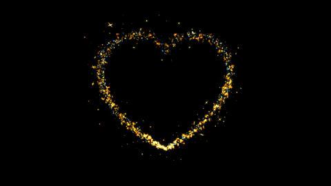 Heart Sparkling Golden glitter Spiral lens effect Live Action