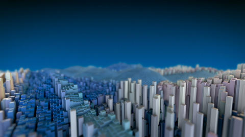 Abstract Buildings Animation