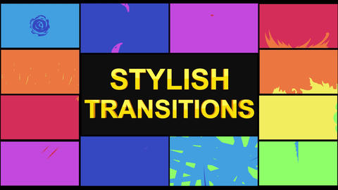 Stylish Transitions Motion Graphics Template
