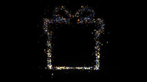 Gift Box Sparkling Golden glitter Spiral lens effect Live Action