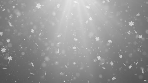 Clen White Abstract Falling snow flakes Snowflakes Particles 4K Loop Animation Live Action