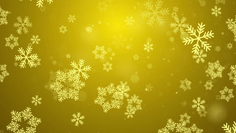 Gold Abstract Falling snow flakes Snowflakes Particles 4K Loop Animation Live Action