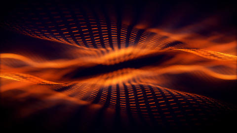 Orange Strings Wave Animation