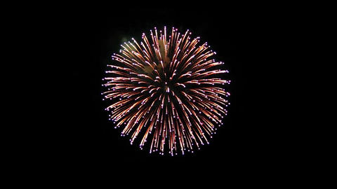 Fireworks Display explosions the night sky Animation Live Action