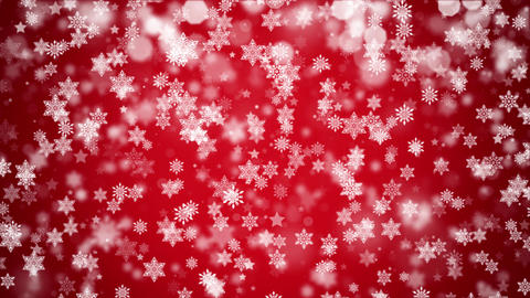 Red Abstract Falling snow flakes Snowflakes Particles 4K Loop Animation Live Action