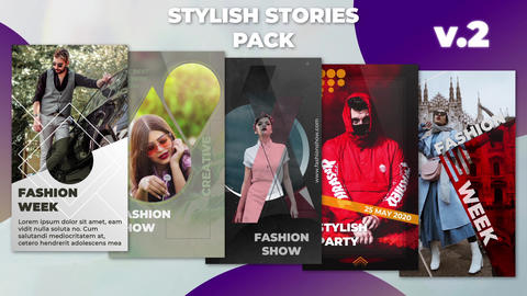 Stylish Stories Pack v 2 After Effectsテンプレート