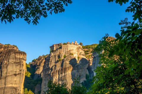 Rock Monastery in Sunny Weather Photo