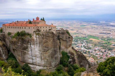 Monastery on a High Cliff Above the Town Photo