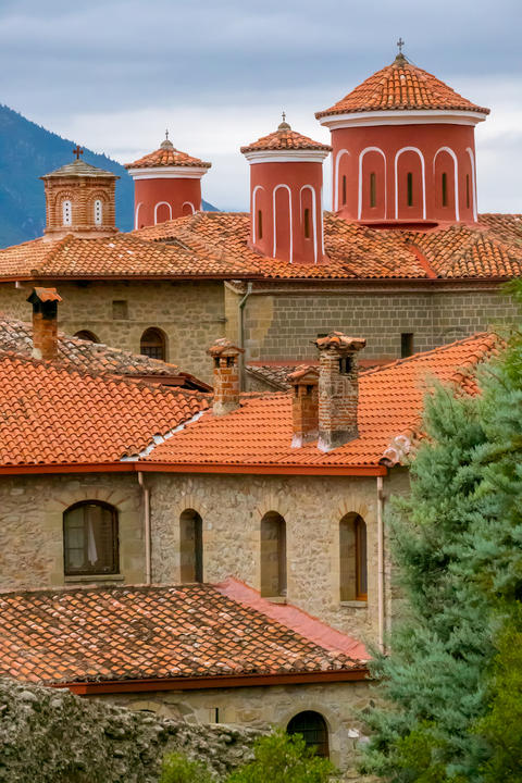 Roofs of the Greek Monastery Photo