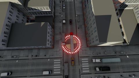 Autopilot truck gps. Autonomous vehicle. Commercial vehicle. Future concept Live Action