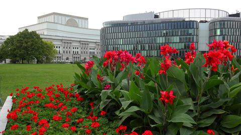 Metropolitan Business Centre in Warsaw. Poland. 4K Footage