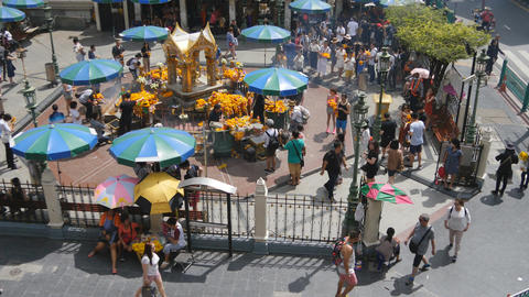 Phra Phrom or Erawan Shrine in Bangkok Footage