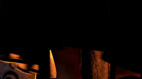 Closeup Wind Shakes Black Dress Footage