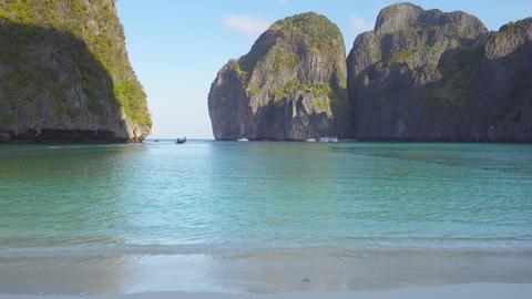 Famous beach in Maya bay, Phi Phi Leh island Footage