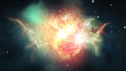 Scenic Animation Galaxy Outer Space Moving Stars Loop Animation Live Action