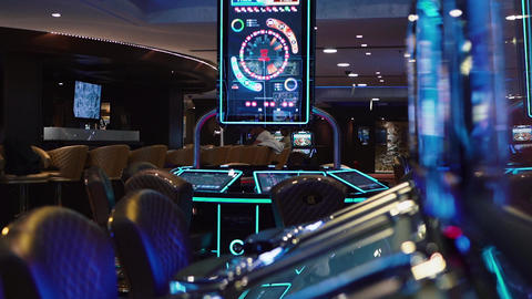 The slot machine in casino Live Action