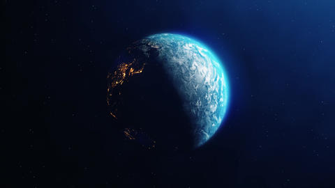 Realistic Rotation of the Earth from day to night Live Action