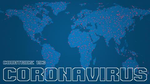 Global spreading of COVID-19 coronavirus disease conceptual animation Live Action