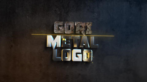 Gorimetal logo After Effects Template