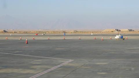Aerodrome runway in the desert Live Action