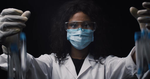 Lab technician breaks test tubes with virus in secret laboratory Live Action