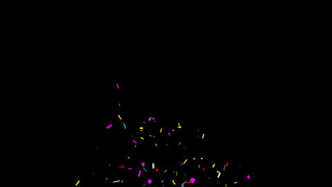 Confetti Party Popper Explosions Animation Live Action