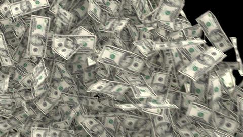 Dollar Bill Falling with Alpha Animation